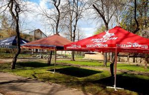 уличные зонты с логотипами