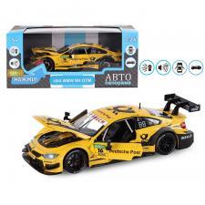 """Машинка металлическая ТМ """"Автопанорама"""", 1:24, BMW M4, открываются передние двери и капот. Свободный ход колес. Световые и звуковые эффекты"""